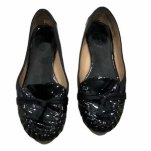 Kate Spade Black Patent Leather Loafers Size 6